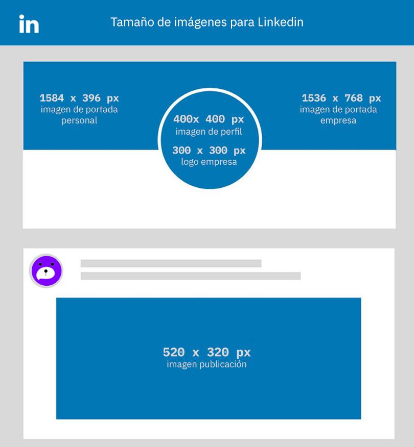 tamaño de imágenes para linkedin
